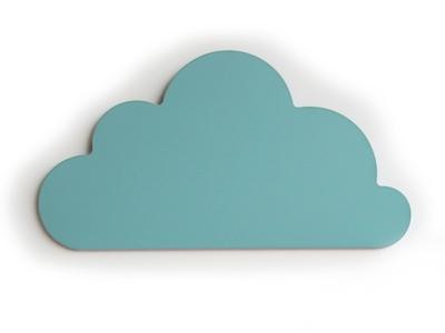 Cloudy munt wall deco 46x25 cm
