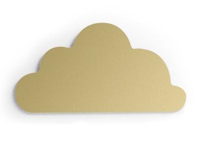 Cloudy goud wall deco 46x25 cm