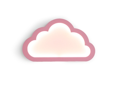 Cloudy roze led mood light 43x26 cm