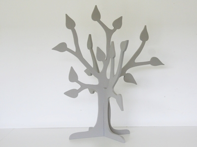 Display 3D boom marmer grijs 57 cm