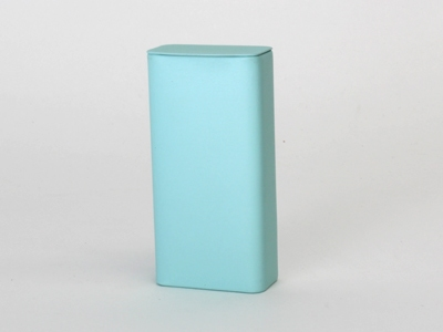Aqua blik lang smal rechthoekig (12 stuks)
