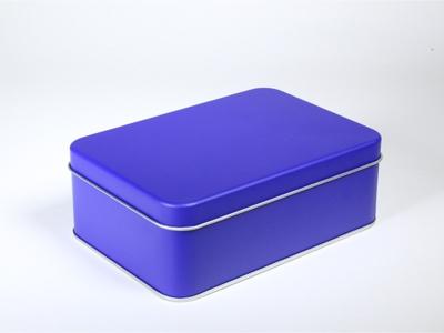 Galaxy fel blauw blik rechthoek doos medium (2 stuks)