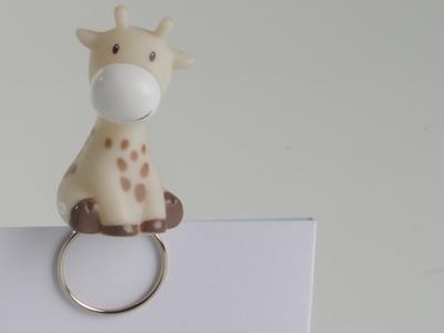 Giraf ecru decoclip (24 stuks)