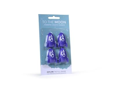 Raket galaxy blue magneten (6 stuks)
