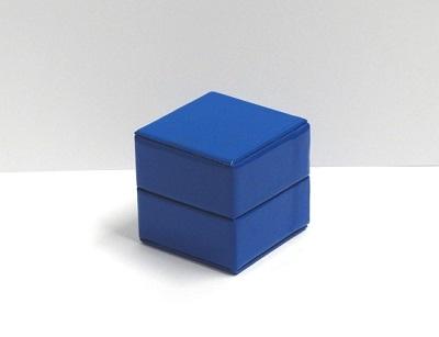 Glossy kubus doosje navy blue (10 stuks)