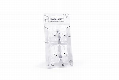 Nijntje magneten per 4 stuks puur wit 4 cm (6 stuks)