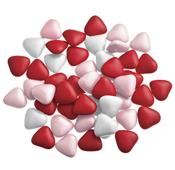 Smartie hartjes wit - roze - rood assortiment 1 kg