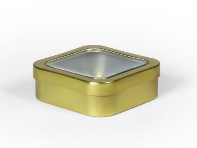 Goud blik vierkant doorzichtig (24 stuks)