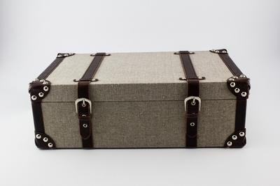 Koffer visgraat motief