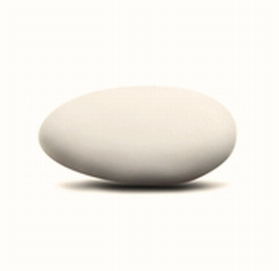 Chocoladeboon snow white mat 1 kg (licht crème kleur)