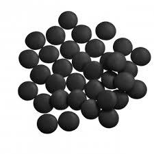 Mini smarties confetti zwart gelakt 1 kg