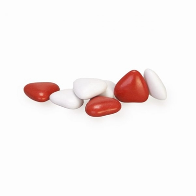 Smartie hartjes wit - rood assortiment 1 kg