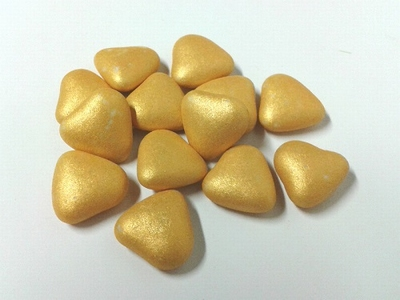 Smartie hartjes goud brilliant 1 kg