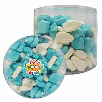 Lollywood Colors Foam Baby Mix Blauw Wit 700 gram