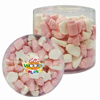Lollywood Colors Foam Baby Mix Roze Wit 700 gram