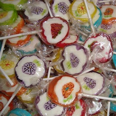 Lollies Retro Bloem-Fruit x100