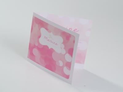 Geboortekaart Maxine paard roze