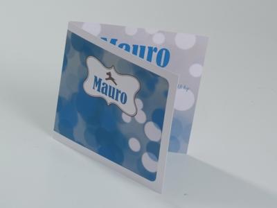 Geboortekaart Mauro paard blauw
