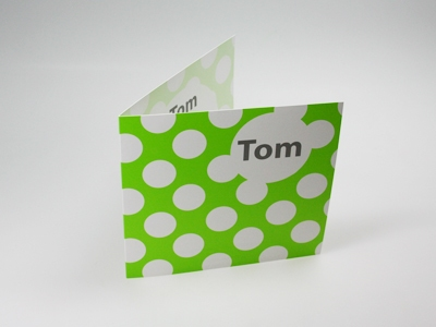Geboortekaart lime Tom