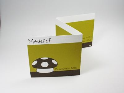 Geboortekaart Madelief