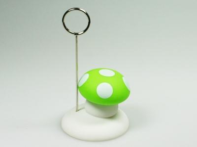 Paddestoel lime fotoclip (24 stuks)