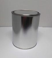 Blik rond 1 liter groot verfblik