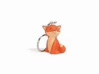 Cesar Fox oranje sleutelhanger