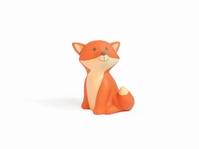 Cesar Fox oranje mini spaarpot