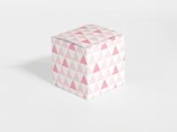 Naturalplus flamingo driehoek patroon kubus doosje (24stuks)