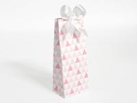 Naturalplus flamingo driehoek patroon hoog tasje (24 stuks)
