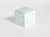 Naturalplus mint driehoek patroon kubus doosje (24 stuks)