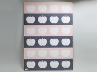 Etiketstickers pom roze appel A4 blad