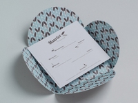 Pom aqua omslaggeboortekaart blaadje excl insert