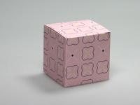 Pom roze kubus
