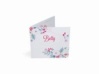 Betty Blush Bloem geboortekaart