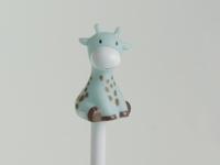 Giraf blauw potlood