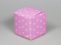 Sterretjes roze kubus