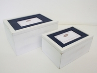 Foto box marineblauw set 2-4