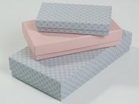Inside out dozen steengrijs roze patroon set (24 stuks)