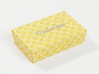 Inside out doosjes geel mastique patroon (24 stuks)