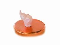 Olifantje Balthazar soft roze magneet (12 stuks)
