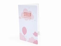Olifantje Balthazar soft roze Stella geboortekaart
