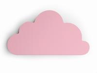 Cloudy roze wall deco 46x25 cm