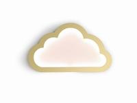 Cloudy goud led mood light 43x26 cm