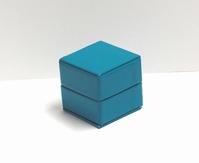 Glossy kubus doosje turqoise (10 stuks)