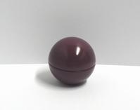 Metalen bol aubergine paars (10 stuks)