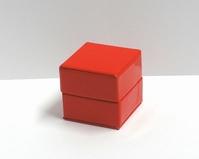 Glossy kubus doosje rood (10 stuks)