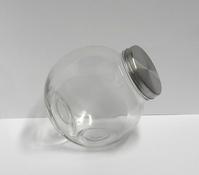 Snoepbokaal zilver deksel groot - enkel afhalen