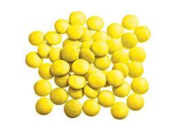 Mini smarties confetti kanarie gelakt 1 kg