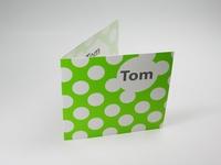 Geboortekaart lime Tom